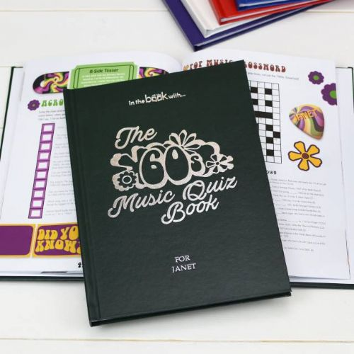 Personalised 1960s Music Quiz Book